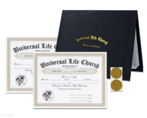 Marriage Certificate Bundle - ulc.net