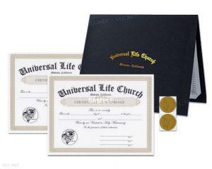 Marriage Certificate Bundle - ulc.net